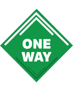 "12"" Diamond One Way Aisle Social Distancing Decal"